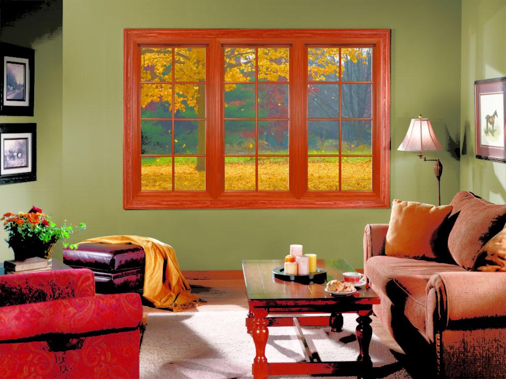 Имитация окна в гостиной