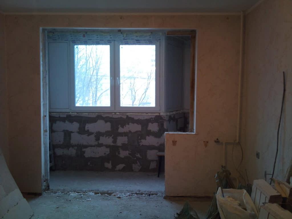 Снос стены на балкон
