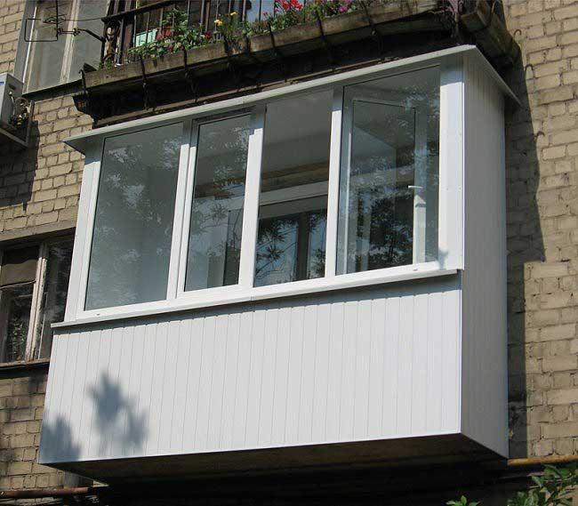 Пристройка балкона на этажах