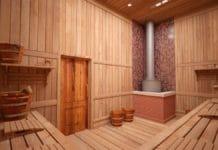 Установка печи в бане