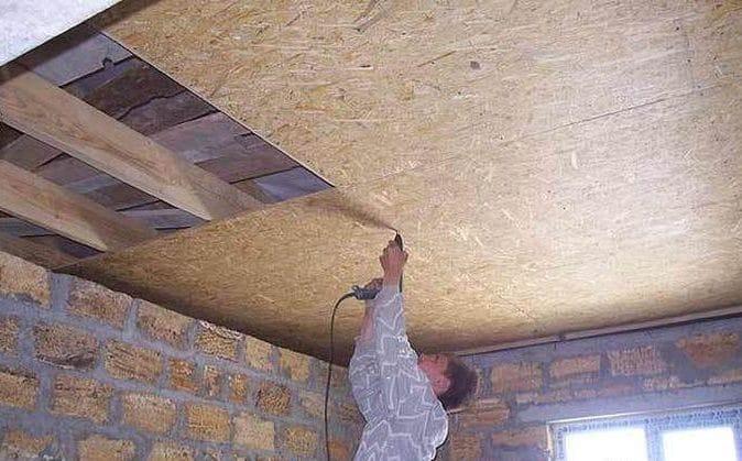 Обшивка потолка ОСП