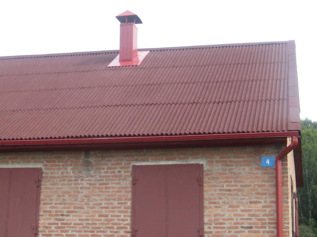 Крыша покрытая однулином