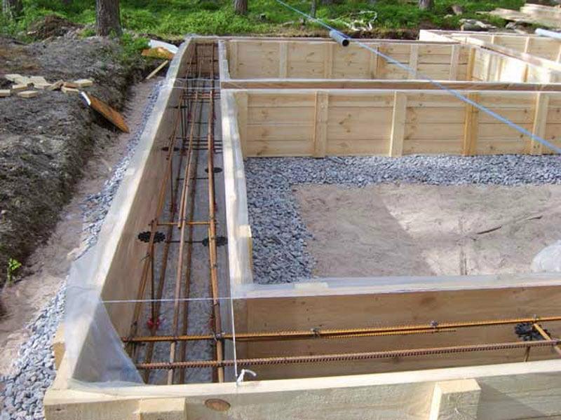 Фундамент для бани на песчаном грунте