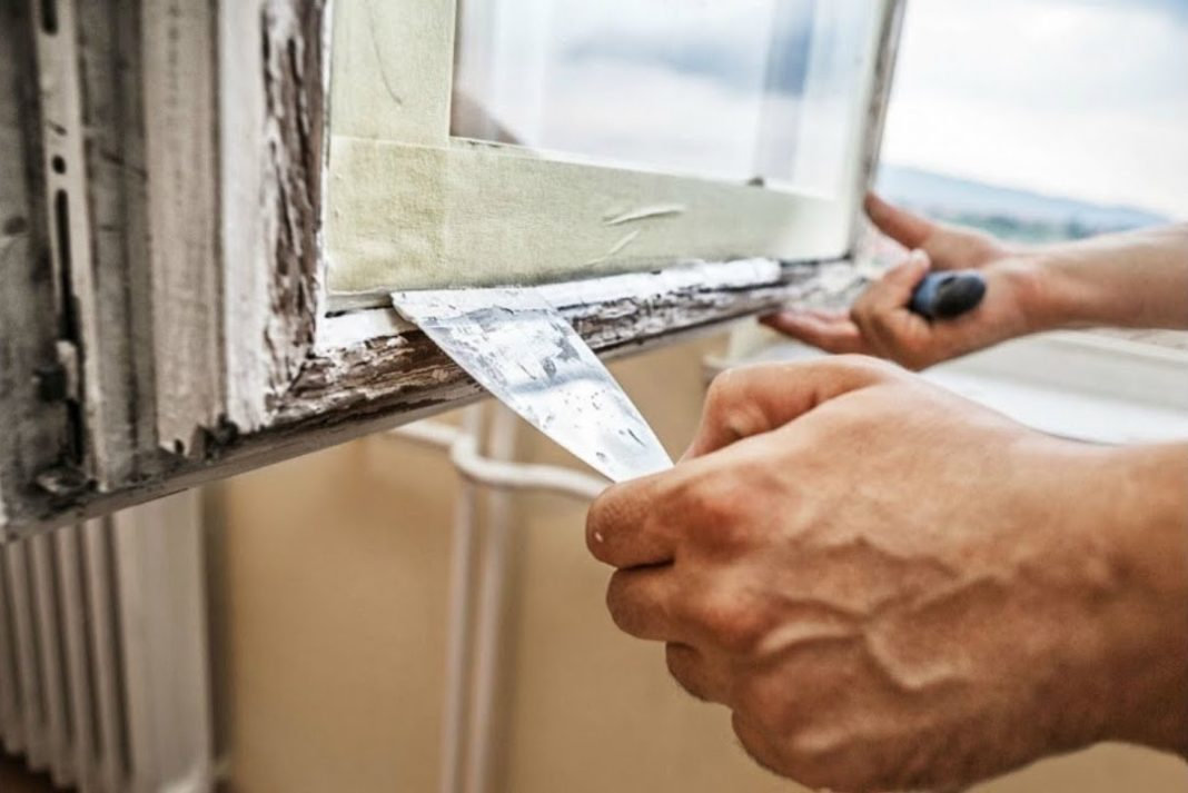 Как покрасить окно