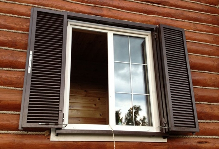 Ставни на окна для дачи