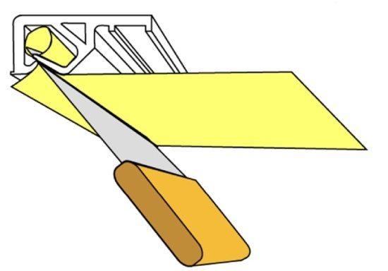 Багет для натяжного потолка