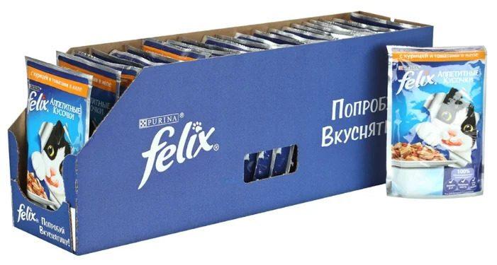 коробка из-под кошачьего корма «Феликс»