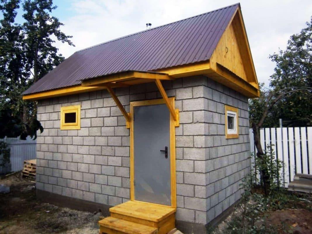 Можно ли строить баню из газобетона
