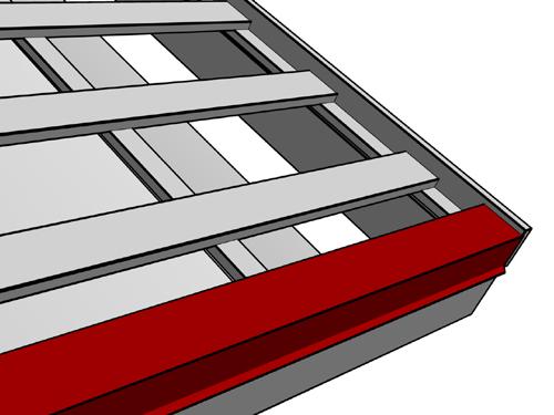 Монтаж карнизной планки для металлочерепицы