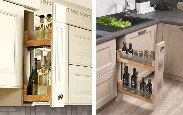 Бутылочница для кухни: расположение