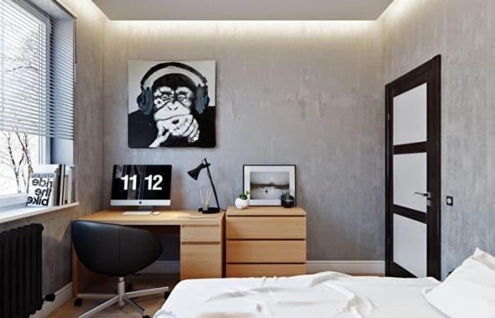 дизайн маленькой спальни для подростка мальчика, фото