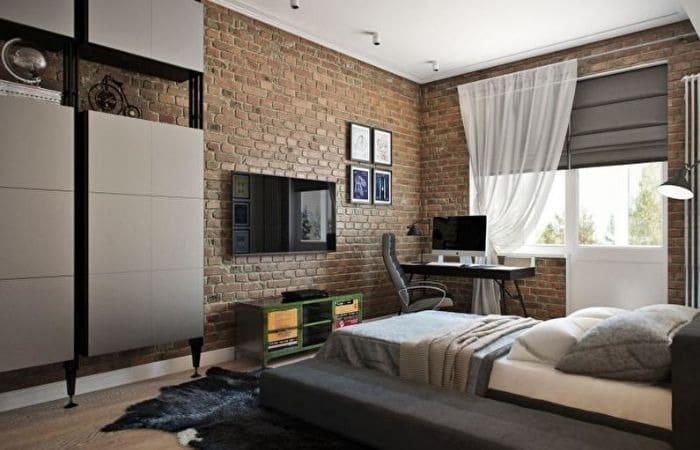 дизайн спальни для подростка мальчика, фото