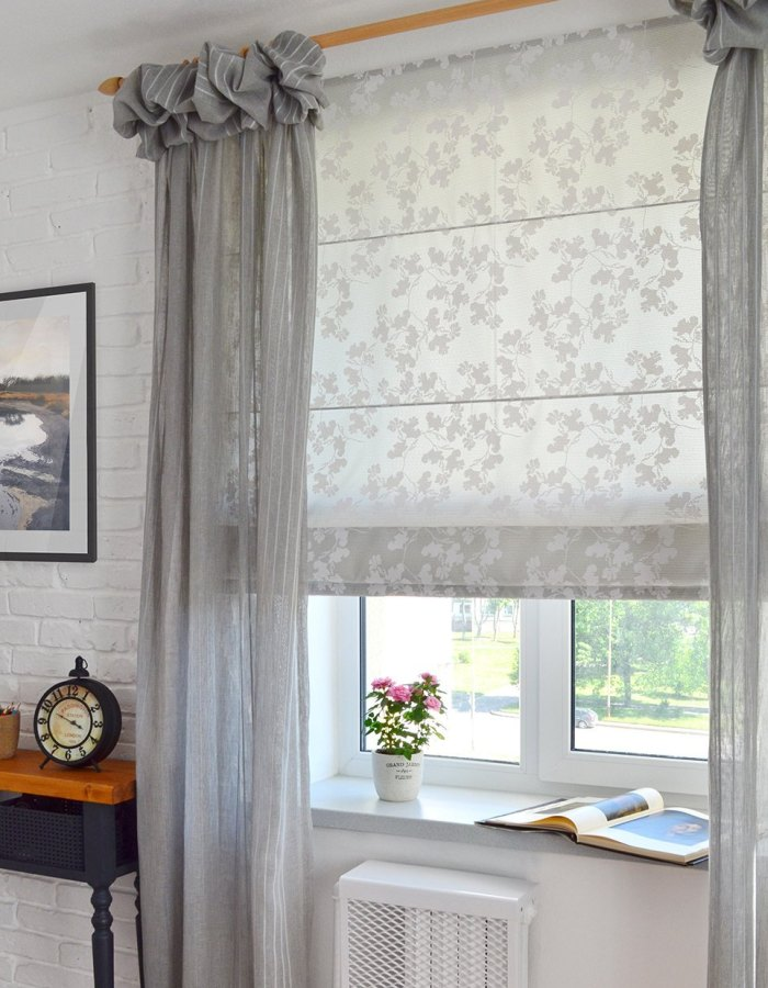 как повесить римскую штору на пластиковое окно без сверления рамы