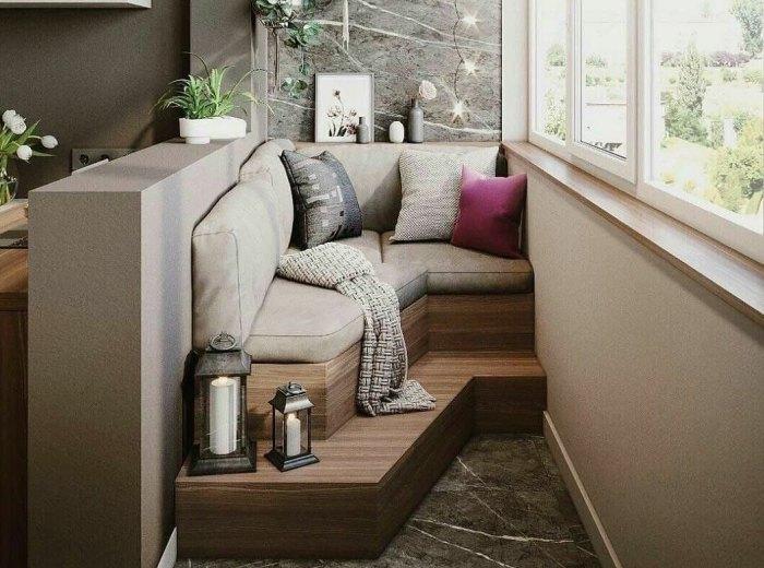варианты мебели на балконе