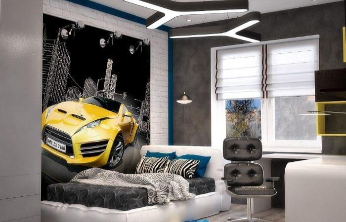 спальня дизайн для мальчика подростка