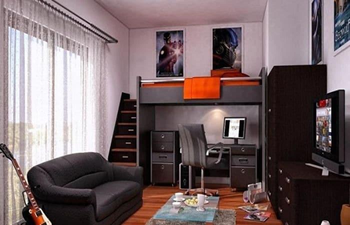 спальня дизайн для подростка мальчика