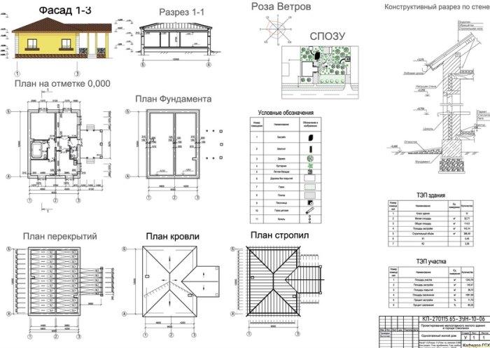 чертежи фасадов домов