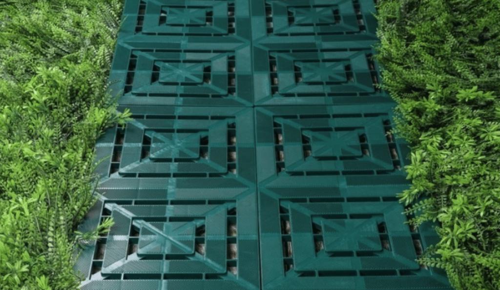 садовые дорожки из пластиковых контейнеров