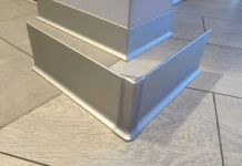 Плинтус алюминиевый