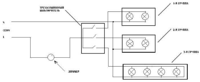 электросхема с розетками пример