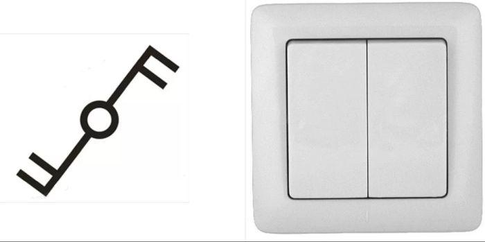 обозначение двойного выключателя на схеме